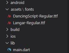 Font structure folder