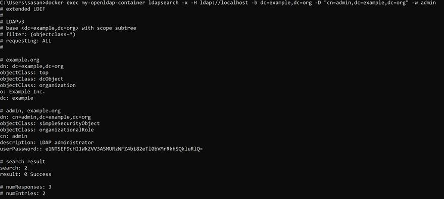 LDAP server testing