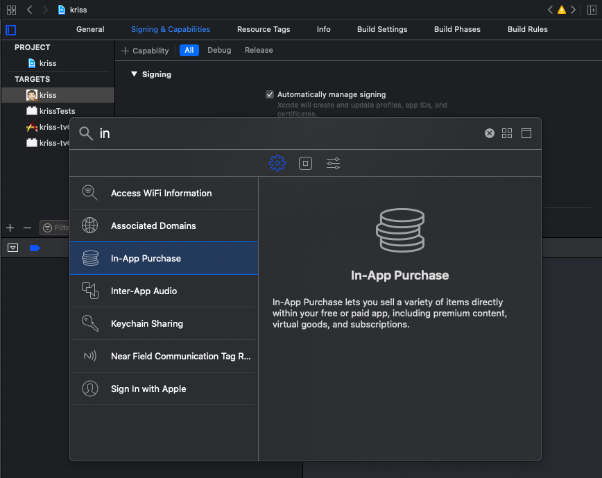 Setup Inapp in Xcode