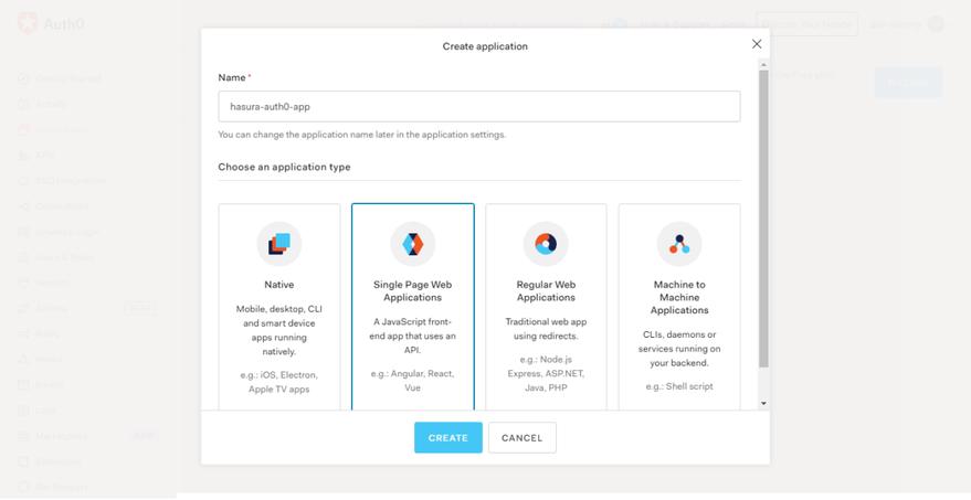 Choose an application type