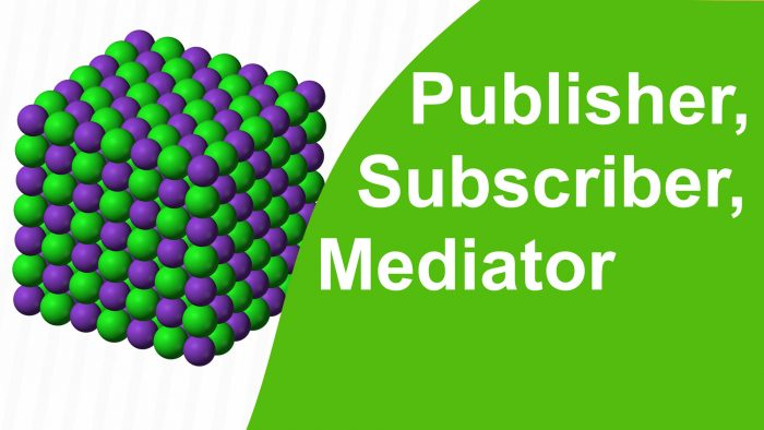 Publisher, Subscriber, Mediator