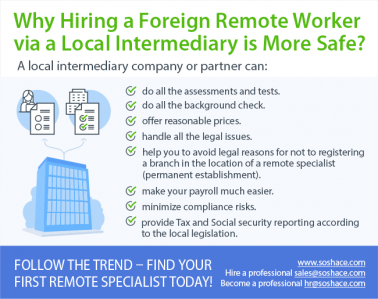 Why hiring a foreign worker via a local intermediary is more safe?