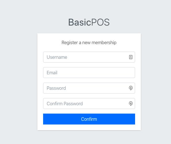 POS Register page