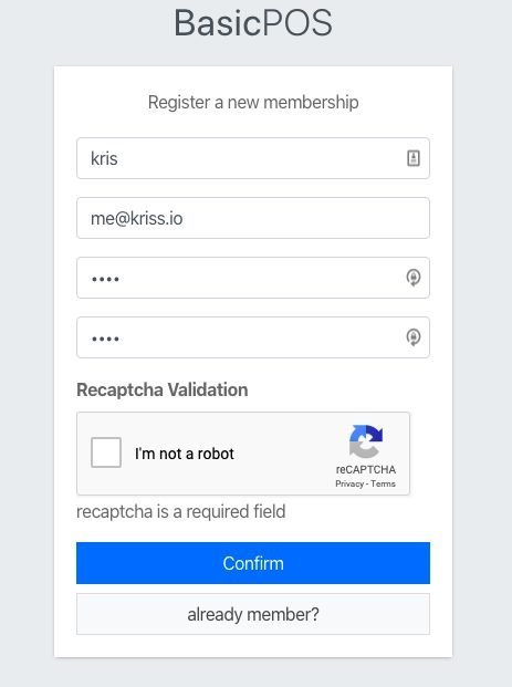 this image show result when we didn't verify ReCaptcha